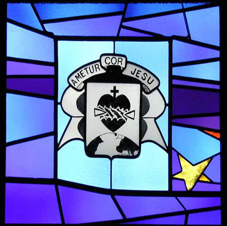 Brothers of the Sacred Heart window at Our Lady of Wisdom Health Center new orleans