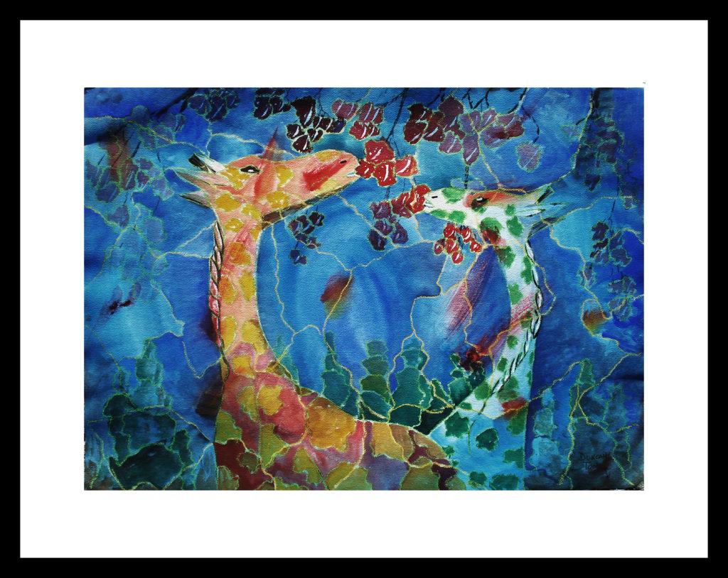 Tooley art studio Giraffes-Two