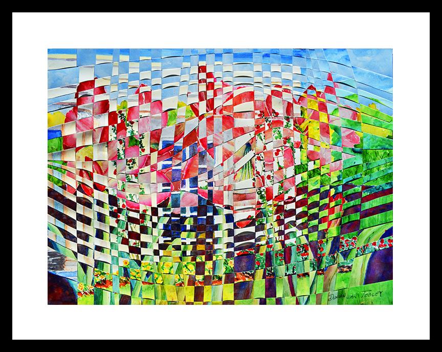 Tooley Art Studio Huntington Library Rose Garden weaving