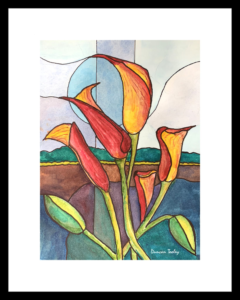 Red-Yellow-Calla-Lily-2 by Duncan Tooley
